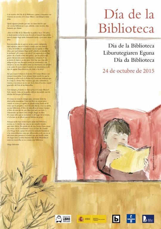 cartel Dia de la Biblioteca 2015