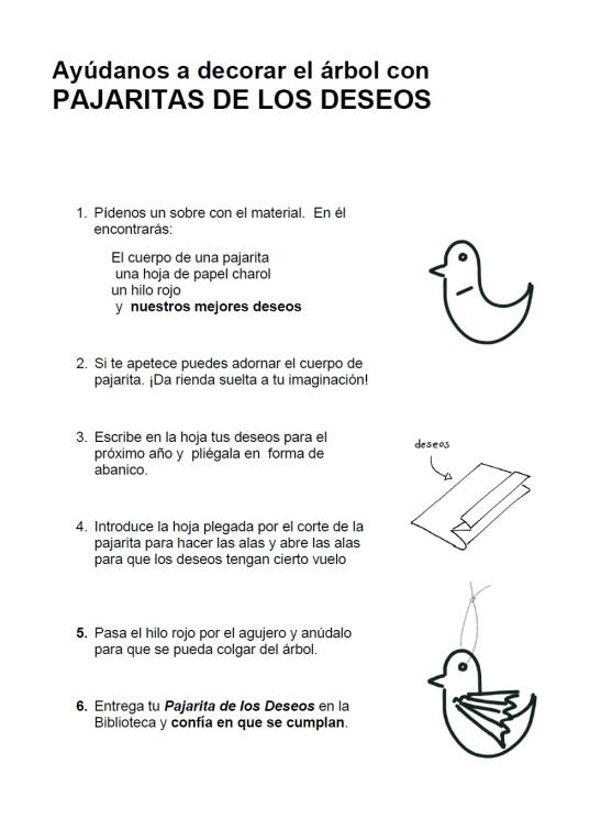 instrucciones Pajarita de los Deseo