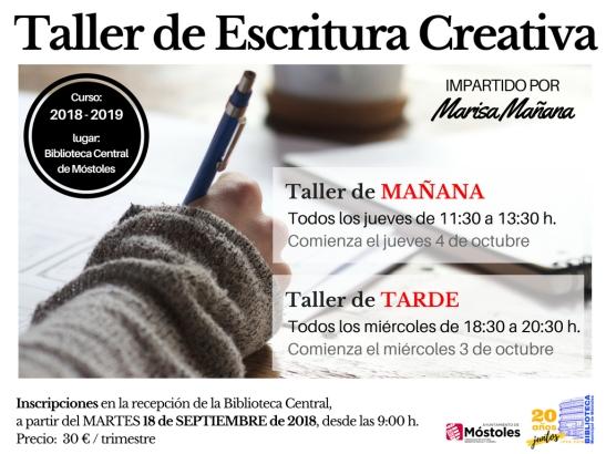 Taller escritura creativa 2018-2019